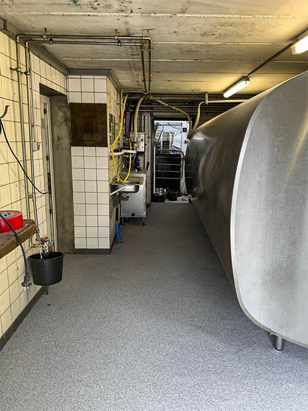 Hygiënische vloer in de robotruimte